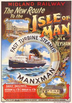 1905. Isle of Man poster