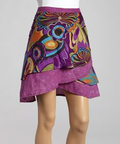 Purple Floral Wrap Skirt by Jayli #zulily #zulilyfinds