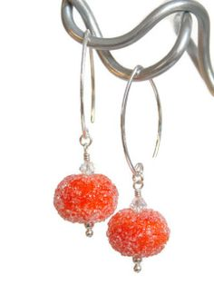 Tangerine Sugar Earrings -SOLD-