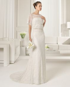 Lace dress with beadwork embroidery, in ivory. reminds me of a greek princess
