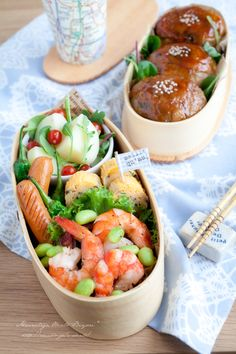 Today's Menu Winding rice balls, meat · Stir salt of edamame and shrimp -Saute of Tang Shi and Wiener - Shiitake into omelet -Color salad of baby leaf door New Potato
