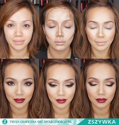 Her contour is beautiful