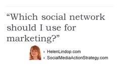 Which social network should you use for marketing? #30dayvideomarketingchallenge
