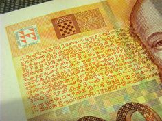 Fragment of Croatian banknote.