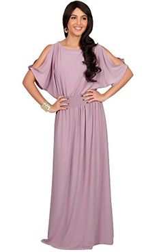 A beautiful and elegant maxi dress that features stylish split sleeves. The elastic waist band gives the skirt a flared look ensuring a great fit for all body shapes and sizes. Maxi Bridesmaid Dresses, Maxi Dress Wedding, Wedding Dresses Plus Size, Colored Wedding Dresses, Plus Size Maxi Dresses, Elegant Maxi Dress, Wedding Dress Necklines, Maxi Dress With Sleeves, Amazon Dresses