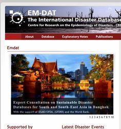Katastrofdatabasen EM-dat http://www.emdat.be/ Publikationer http://www.emdat.be/publications 10 viktigast stormarna http://www.emdat.be/result-disaster-profiles?disgroup=natural=1900%242013_type=Storm=Display+Disaster+Profile Annual Disaster Statistical Review 2011 http://cred.be/sites/default/files/2012.07.05.ADSR_2011.pdf Sammanfattande rapport om 2012 http://cred01.epid.ucl.ac.be/f/CredCrunch31.pdf