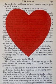 diy this by take a page from an old love story, and print a heart on it... done.