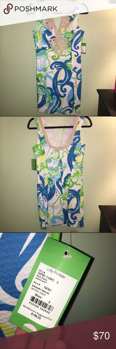 "Lilly Pulitzer dress NO TRADES❌ measurements ⭐️bust 33-34.25⭐️waist 25-26.5""⭐️hips 36-37""⭐️ length 31""⭐️ PRICE IS FINAL unless purchased off Poshmark Lilly Pulitzer Dresses Midi"