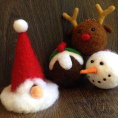 Snowmas Christmas Decoration  Bauble  Needle Felt