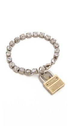 Rodarte Bracelet With Padlock - Silver Jewelry Box, Unique Jewelry, Jewellery, Women's Accessories, Diy, White Gold, Beaded Bracelets, Jewels, Gemstones