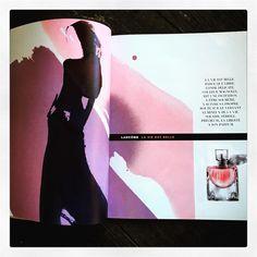 #layout #magazine #cles #parfum #lancome #lavieestbelle #artiste #auroredelamorinerie #mywork #artdirector