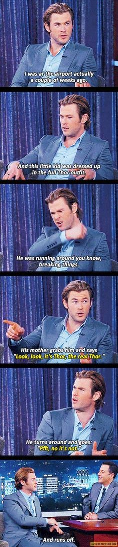 Chris Hemsworth IS Thor!
