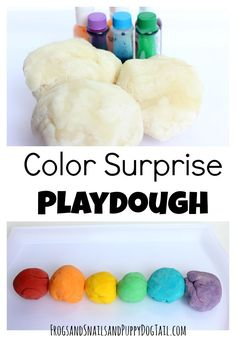 color surprise playdough recipe.  A fun activity for kids!