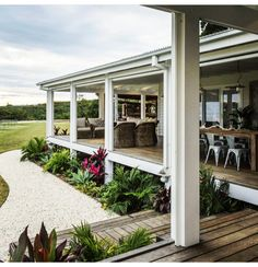 The Grove Byron Bay outdoor space Coastal Cottage, Holiday Home, Cottage, Outside Living, Outdoor Living, House Exterior, House Inspiration, Beautiful Homes, Exterior
