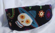 Day Of The Dead Sugar Skull Headband by shirkdesigns on Etsy (Accessories, Hair Accessories, Headbands, sugar skull, day of the dead, skull, flower, goth, calavera, dia de los muertos, mexican, mexican folk art, rockabilly, DOTD, skull headband)