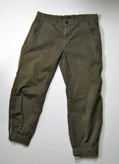 "J BRAND Vintage Pendleton Green Stretch ""Earhart Flight"" Zipper Pant Size 27 #JBrand #CasualPants"