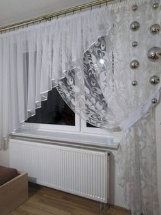 Home Curtains, Curtains With Blinds, Modern Stair Railing, Rideaux Design, Elegant Curtains, Curtain Designs, Beautiful Interiors, Cool Furniture, Living Room Decor