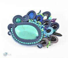 Sutaszowe broszki - Multanka - art soutache jewellery