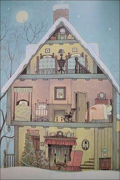 the night before christmas book, illustrations by GYO FUJIKAWA
