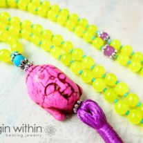 Love the colours of these Mala's