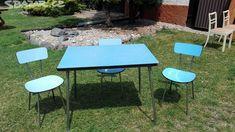 Retro stůl se židlemi - obrázek číslo 1