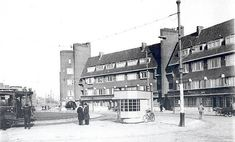 1957. A view of the Surinameplein in Amsterdam-West. The Surinameplein connects the Hoofdweg with the Cornelis Lelylaan and is via the Surinamestraat connected with the Overtoom and Amstelveenseweg. The square, which was named after the former Dutch colony Suriname, was built in the 1920's. Photo Serc. #amsterdam #1957 #Surinameplein
