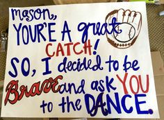 For all the Atlanta Braves fans out there.. How my friend asked a guy to Sadie Hawkins!  #braves #sadies #prom #asking