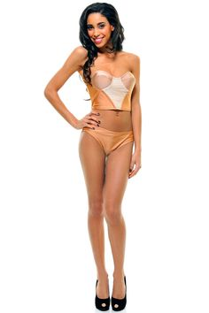 Vintage - Nude & Peach Two Piece Olivia Bikini Swimsuit