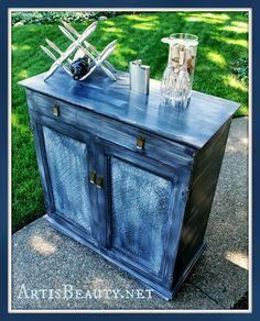 ART IS BEAUTY: French Gray/Blue Pier One wine bar makeover http://arttisbeauty.blogspot.com/2013/07/french-grayblue-pier-one-wine-bar.html