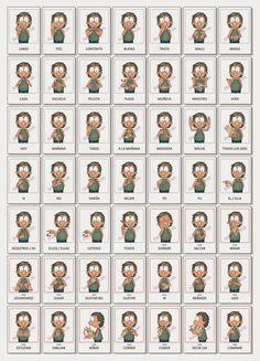 Juegos y Material Didáctico en Lengua de Señas Argentina®: Juegos Asl Signs, Sign Language, Infographic, Coding, Lds, Tumbler, Beauty, Dibujo, Frases
