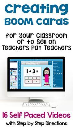 Making & Creating BOOM Cards Digital Task Cards to Sell on Teachers Pay Teachers Google Classroom, Math Lessons, Piano Lessons, Teacher Pay Teachers, Teacher Binder, Teacher Websites, Classroom Management, Behavior Management, Task Cards