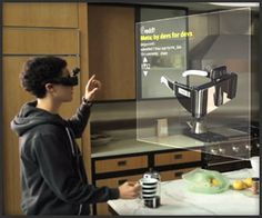 Meta - Augmented Reality Glasses with Gesture Control Interactive Interface – Epson Moviero + Kinect (+VIDEO) Augmented Reality Technology, Futuristic Technology, Teaching Technology, Space Glasses, Future Gadgets, Google Glass, Small Camera, Screen Design, Cool Tech