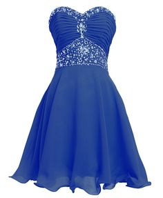 Fashion Plaza Short Chiffon Strapless Crystal Homecoming Dress D02636 on Luulla