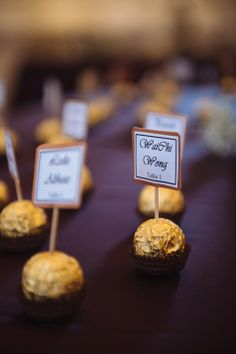 Table assignments paired with a sweet treat ♡♡♡ New Years Dinner Party, Chicago History Museum, Museum Wedding, Real Weddings, Sweet Treats, Wedding Photos, Centerpieces, Place Card Holders, Table