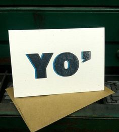 """Yo, Missing You Card - 5 Pack   This bold graphic card is both funny and sweet with a large """"Y...   Greeting Cards"""