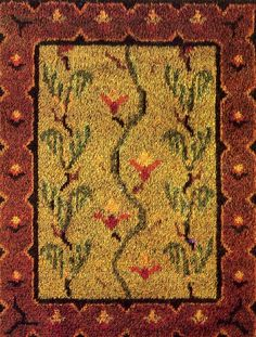 Sammaleen kukka, Mosses Flower, my mother made this kind of rug one after in a year at age of 20 Ryijypalvelu RP Oy