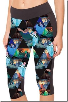 Maybe this would get me to exercise! --- Disney Discovery- Assorted Disney Workout Capris