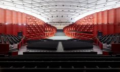 Image 12 of 15 from gallery of Convention Centre Strasbourg / Dietrich Strasbourg, Theatrical Scenery, Auditorium Design, Outdoor Stage, Innovation Centre, Concert Hall, Concert Venues, Convention Centre, Floor Design
