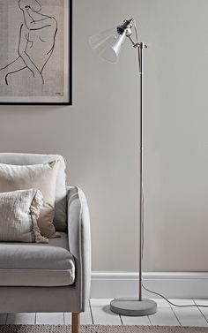 HONE | Glass & Concrete Floor Lamp