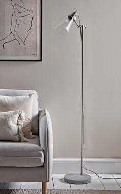 HONE   Glass & Concrete Floor Lamp