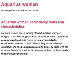 aquarius personality - Google Search