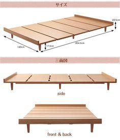 【楽天市場】シングルベッド 北欧調 デザインベッドフレーム 木製ベッド シングルサイズ 木目ブラウン 送料無料:家具の通信販売 イフ徳島