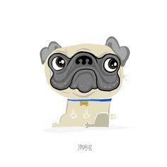#pug #dog #ilustration #ilustración #memoe #colima #mexico #sketch #draw