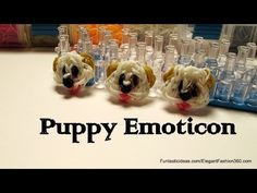 Rainbow Loom Puppy dog Face/Emoji/Emoticon Charm - How to - YouTube