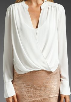 BCBGMAXAZRIA Top in Alabaster at Revolve Clothing - Free Shipping!