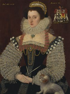 1579, The Duchess of Chandos Frances, Lady Chandos by John Bettes the Younger. Yale Collection, USA.