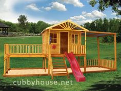 willow creek Cubbyhouse, australian-made, outdoor playground equipment, diy cubby house kits, cubby houses Cubby House Kits, Cubby House Plans, Cubby Houses, Play Houses, Wooden Playhouse Kits, Backyard Playhouse, Build A Playhouse, Backyard Playground, Playhouse Ideas