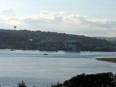 Stood on the hill across from the town and took this shot again another unusual view of Youghal town in County Cork County Cork, San Francisco Skyline, New York Skyline, Travel, Viajes, Destinations, Traveling, Trips