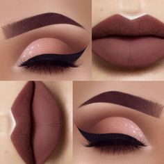 I love this... for me it's casual makeup (btw I did not create this or take these pictures)