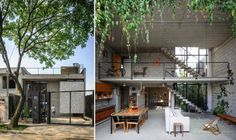Designs by Style, Industrial Style Interior Design: Homes with Small Courtyards Designs